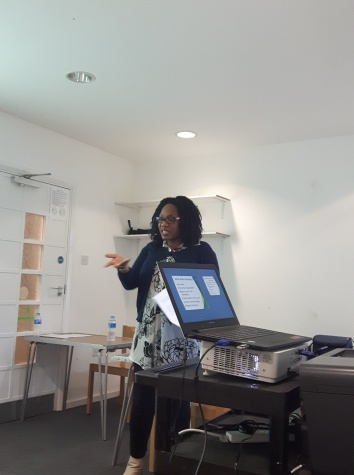 Bisola sharing the basics of using the social media