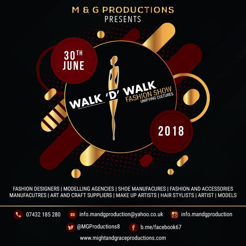 walk 'D' Walk Fashion Show 2018 flyer
